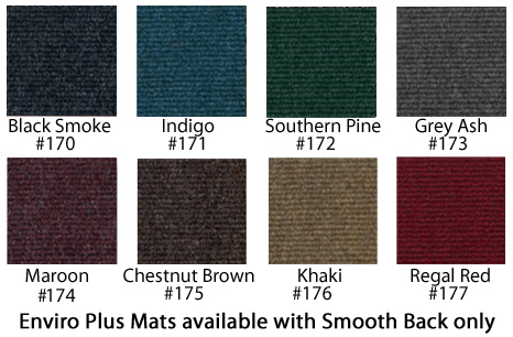 Enviro Plus Wiper Mats are available in 8 colors